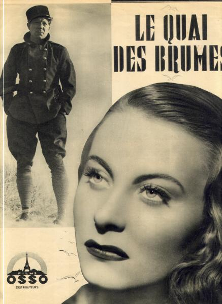 "Affiche de ""Quai des Brumes"" © DR - collection privée Jacques Prévert"