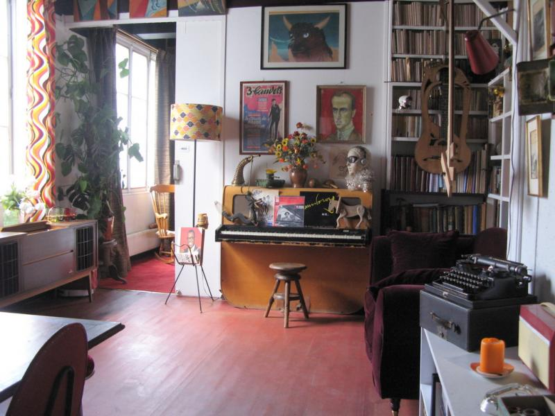 Salon de l'appartement de Boris Vian